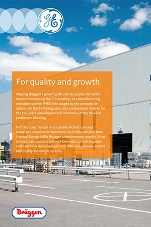 Reference story: Bruggen optimizes production control with GE Digital (MES)